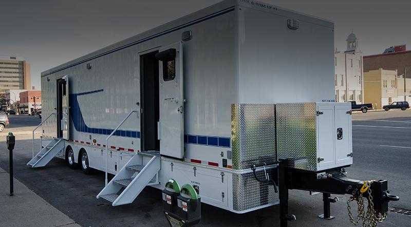 custom film trailer parked